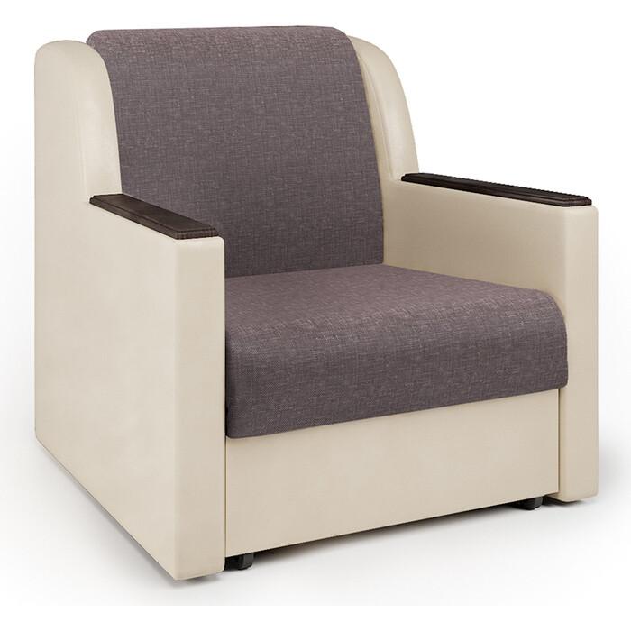 Кресло-кровать Шарм-Дизайн Аккорд Д рогожка латте и экокожа беж кресло кровать шарм дизайн аккорд д рогожка шоколад и экокожа беж