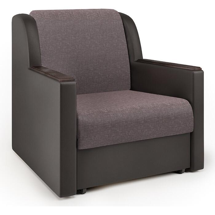 Кресло-кровать Шарм-Дизайн Аккорд Д рогожка латте и экокожа шоколад кресло кровать шарм дизайн аккорд д рогожка шоколад и экокожа беж