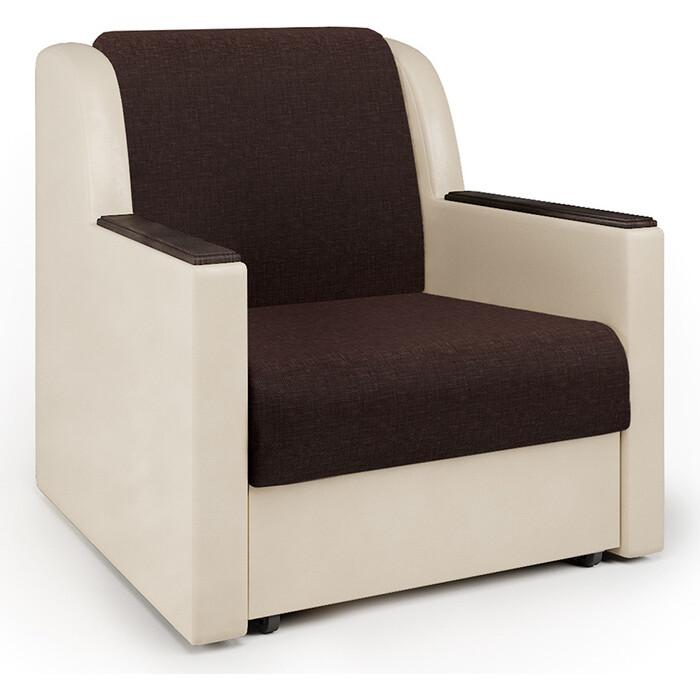 Кресло-кровать Шарм-Дизайн Аккорд Д рогожка шоколад и экокожа беж кресло кровать шарм дизайн аккорд д рогожка шоколад и экокожа беж