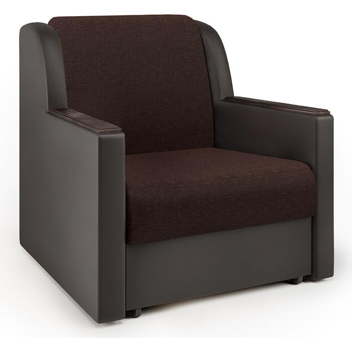 Кресло-кровать Шарм-Дизайн Аккорд Д рогожка шоколад и экокожа
