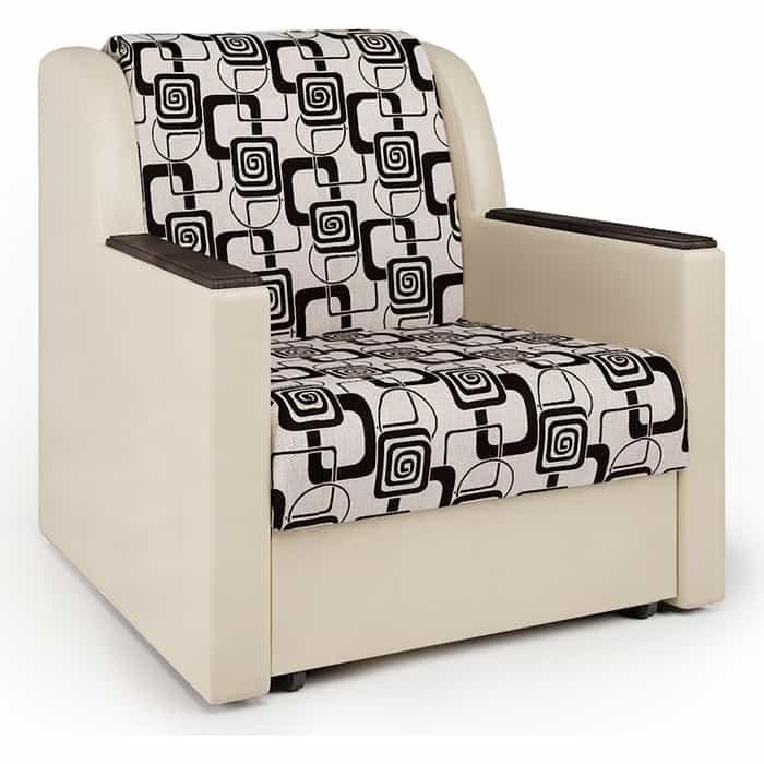 Кресло-кровать Шарм-Дизайн Аккорд Д экокожа беж и ромб