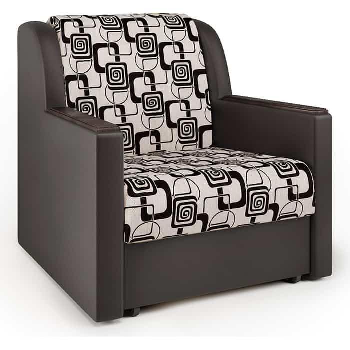 Кресло-кровать Шарм-Дизайн Аккорд Д экокожа шоколад и ромб