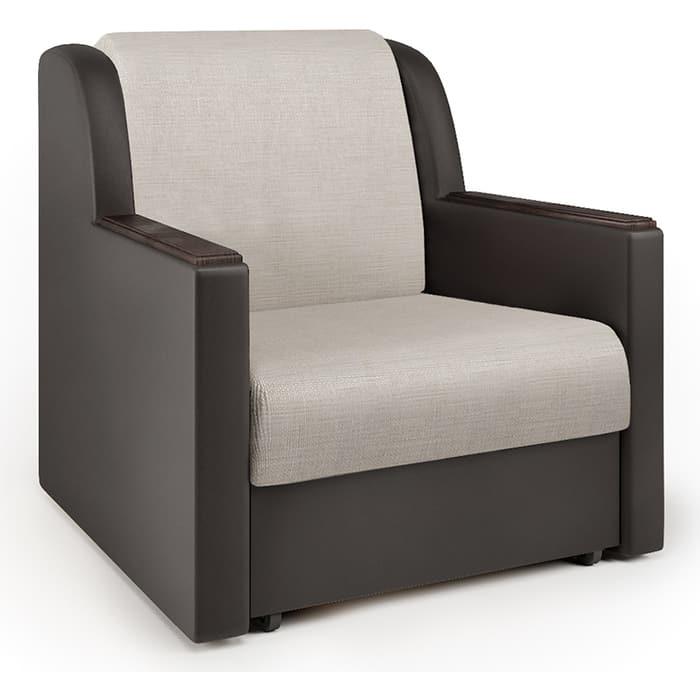 Кресло-кровать Шарм-Дизайн Аккорд Д экокожа шоколад и шенилл беж кресло кровать шарм дизайн аккорд д рогожка шоколад и экокожа беж