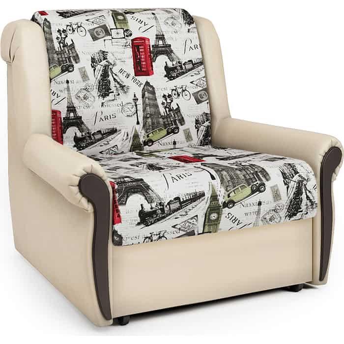 Кресло-кровать Шарм-Дизайн Аккорд М велюр Париж и экокожа беж