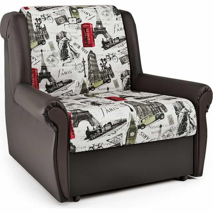 Кресло-кровать Шарм-Дизайн Аккорд М велюр Париж и экокожа шоколад