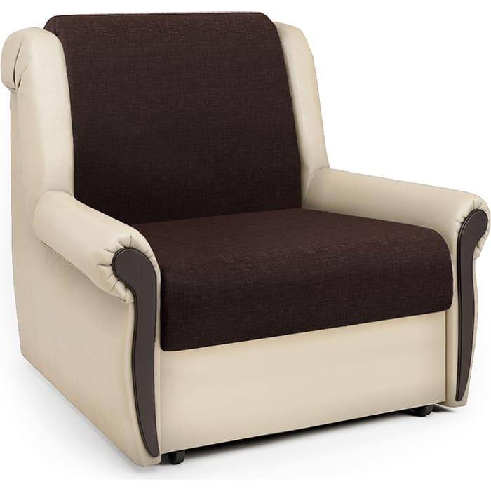 Кресло-кровать Шарм-Дизайн Аккорд М рогожка шоколад и экокожа беж кресло кровать шарм дизайн аккорд д рогожка шоколад и экокожа беж