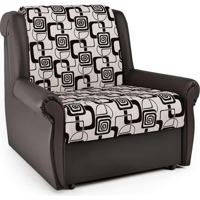 Кресло-кровать Шарм-Дизайн Аккорд М экокожа шоколад и ромб