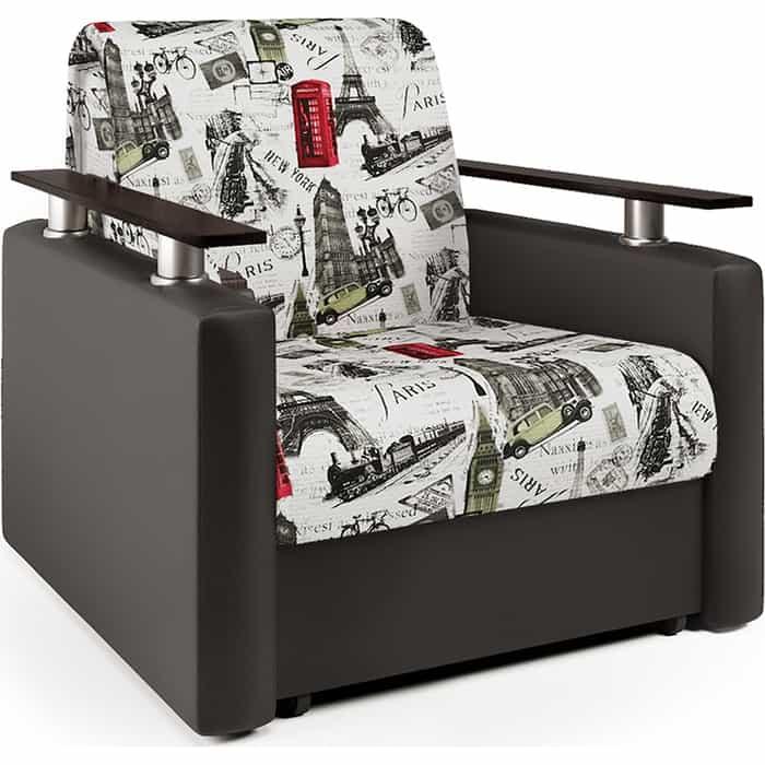 Кресло-кровать Шарм-Дизайн Шарм велюр Париж и экокожа шоколад
