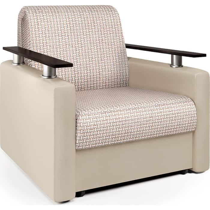 Кресло-кровать Шарм-Дизайн Шарм корфу беж и экокожа