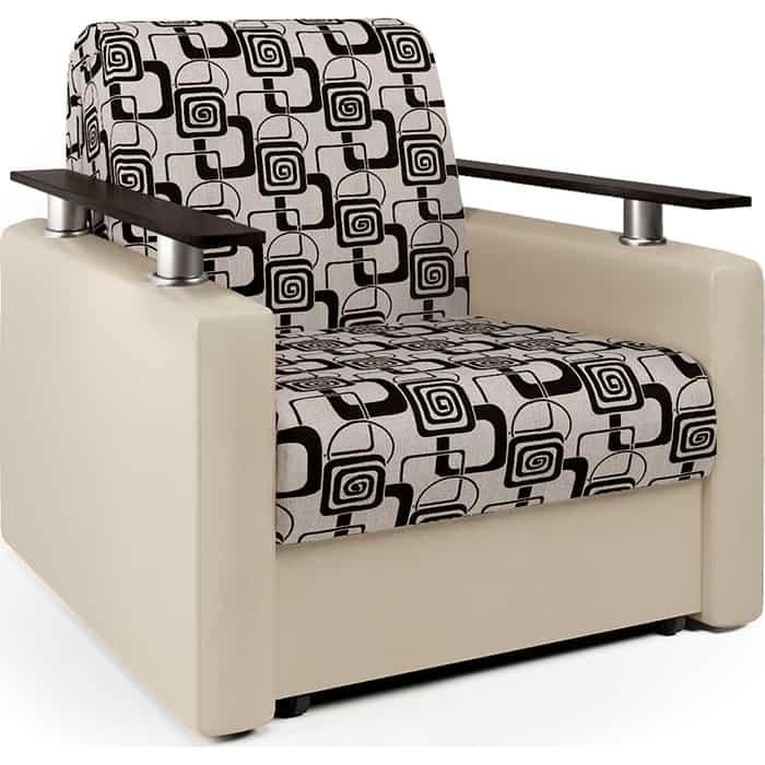 Кресло-кровать Шарм-Дизайн Шарм экокожа беж и ромб