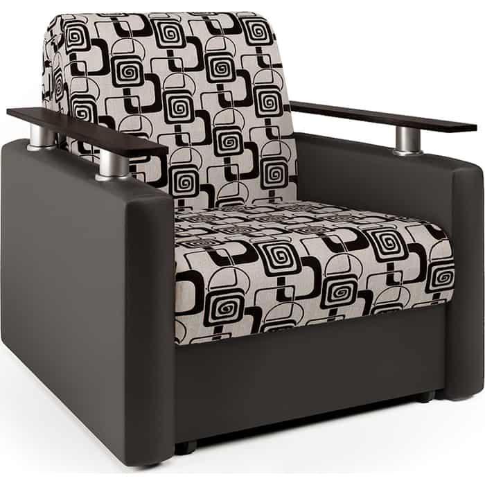 Кресло-кровать Шарм-Дизайн Шарм экокожа шоколад и ромб