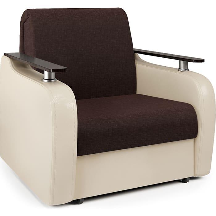 Кресло-кровать Шарм-Дизайн Гранд Д рогожка шоколад и экокожа беж кресло кровать шарм дизайн аккорд д рогожка шоколад и экокожа беж