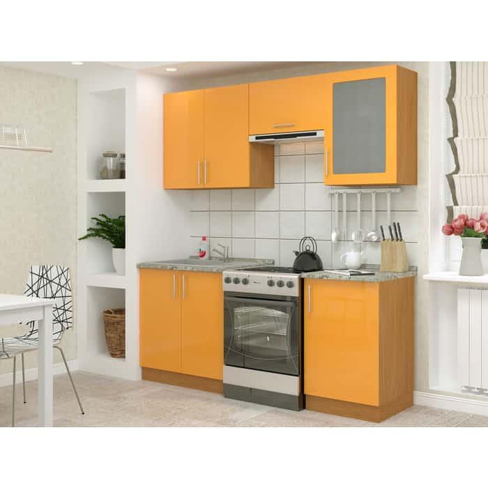 Кухня БАРОНС ГРУПП Гамма 2 оранжевый глянец