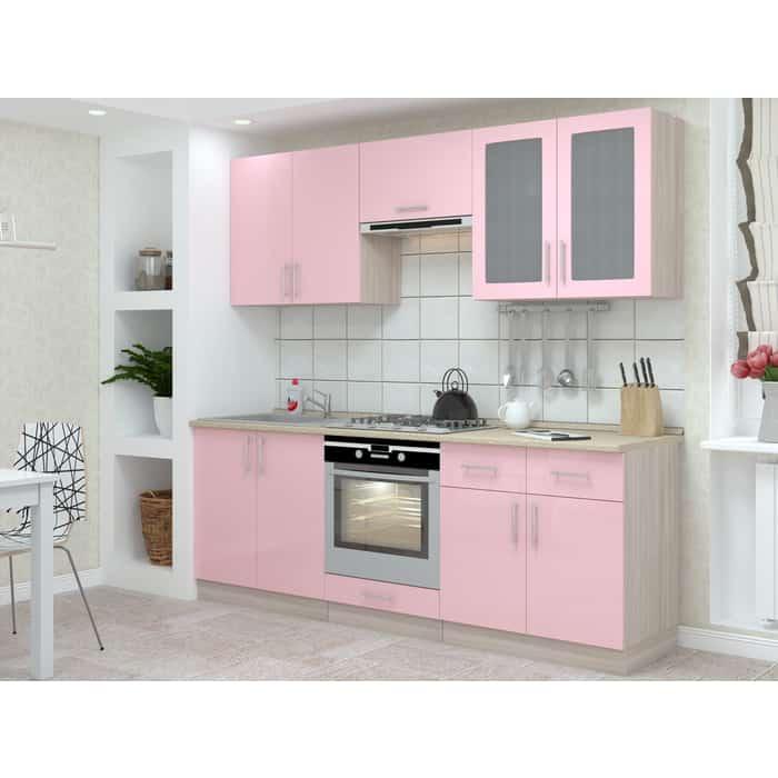 Кухня БАРОНС ГРУПП Гамма 3 розовый глянец