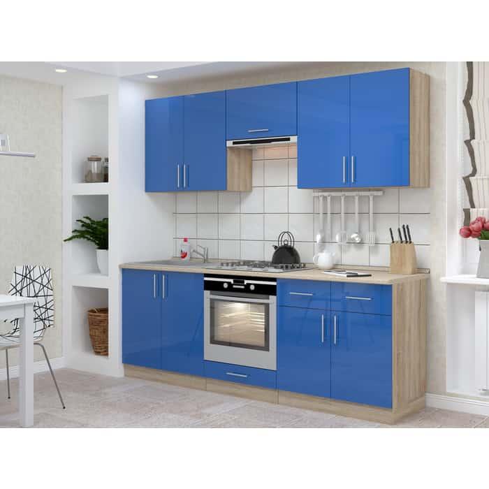 Кухня БАРОНС ГРУПП Гамма 3.1 синий глянец