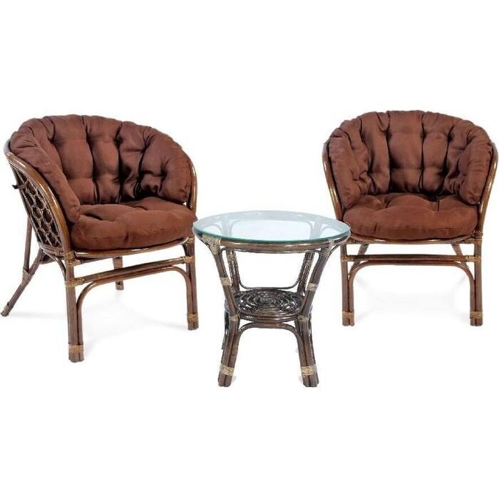 Фото - Набор мебели Мебельторг Багамы Премиум мини (2кресла+стол) каркас медовый, подушки бежевые BTS01/1-MT001 комплект садовой мебели бел мебельторг набор мебели сан ремо мини