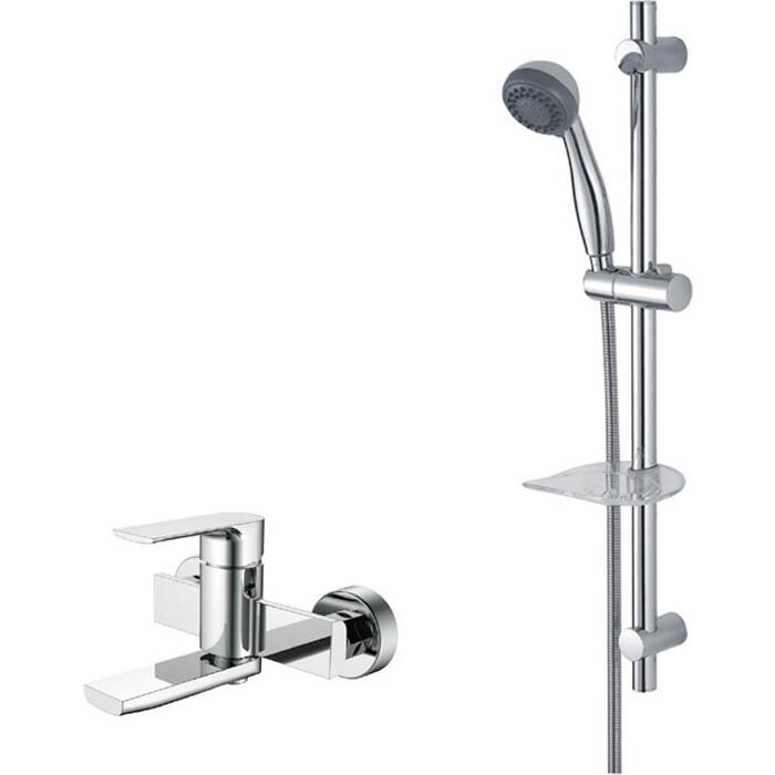 Смеситель для ванны Kaiser Linear с душевым гарнитуром, хром (59022, R-1100)