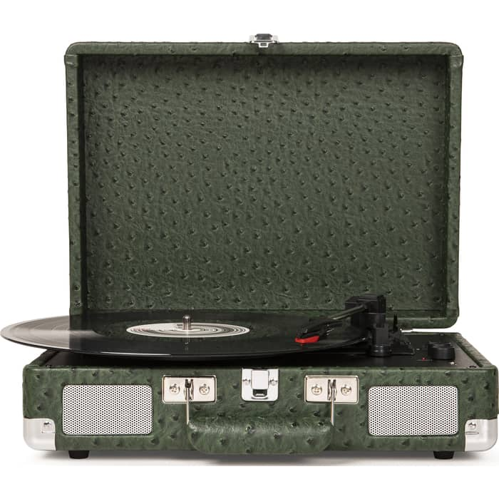 Виниловый проигрыватель CROSLEY CRUISER DELUXE (CR8005D-OS) Green Ostrich c Bluetooth