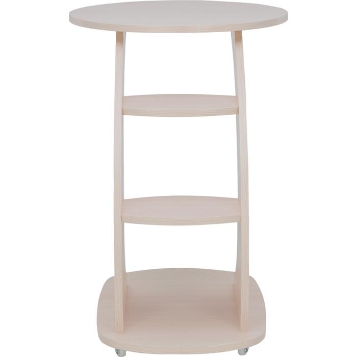 Подкатной столик Leset Стелс молочный дуб