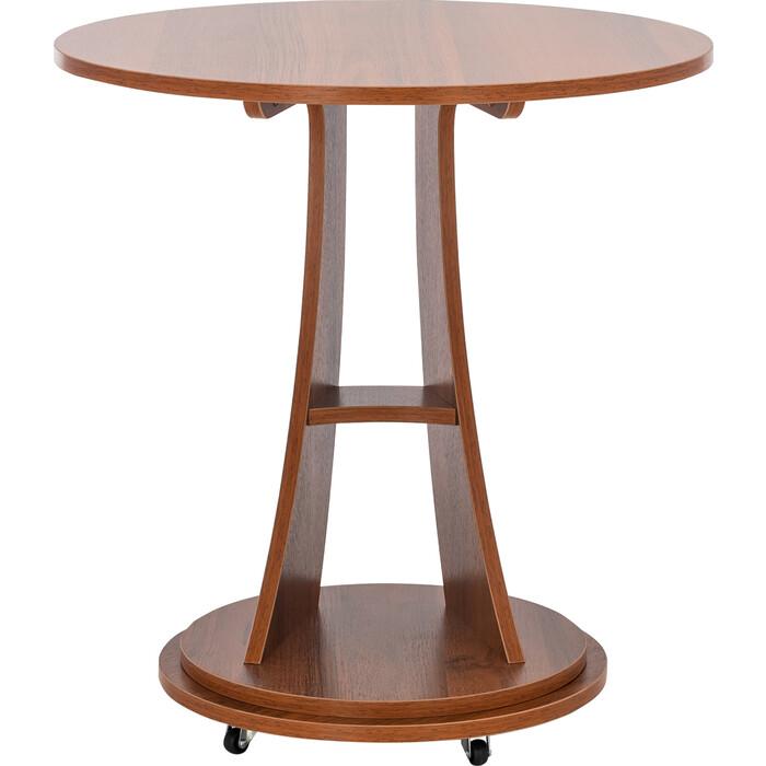 Подкатной столик Leset Акцент 2 орех