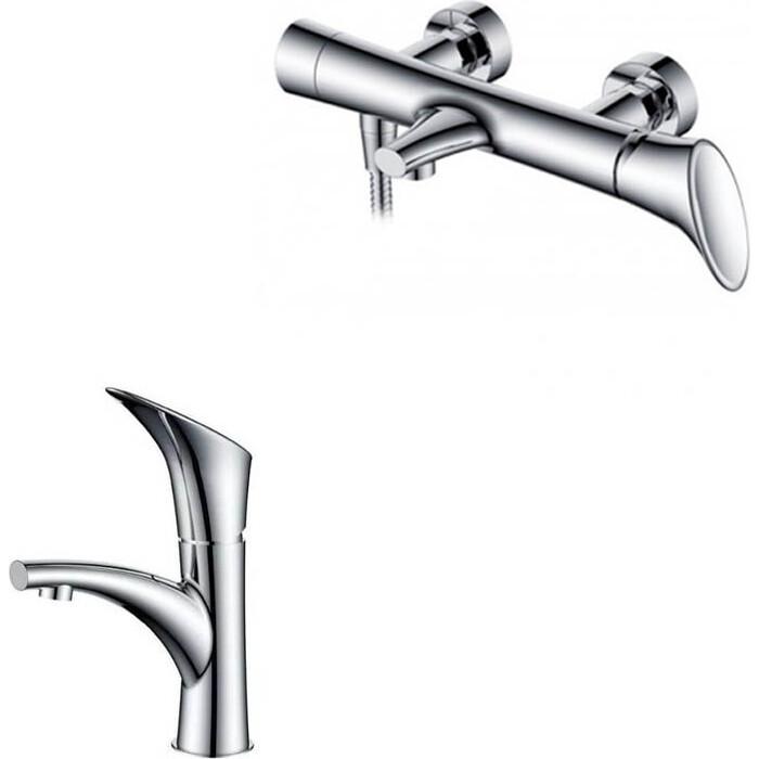 Набор смесителей Kaiser Calla для раковины, ванны, душевой гарнитур, хром