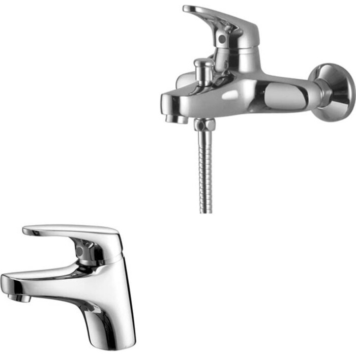 Набор смесителей Kaiser County для раковины, ванны, с ручным душем, хром