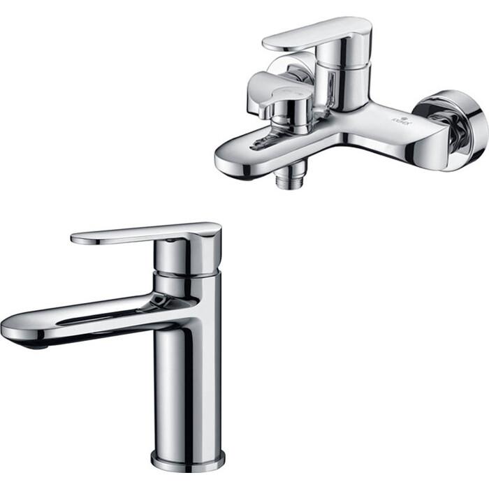 Набор смесителей Kaiser Estilo для раковины, ванны, с ручным душем, хром
