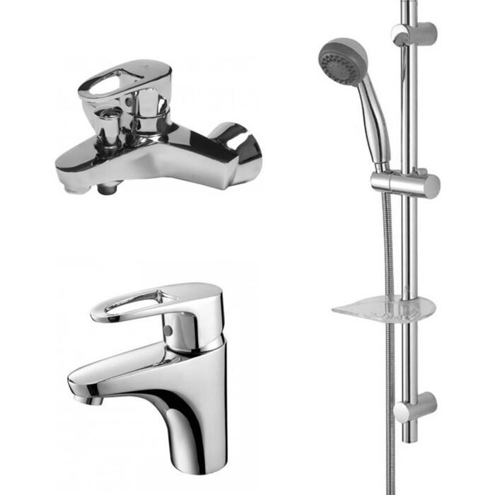 Набор смесителей Kaiser Luxor для раковины, ванны, душевой гарнитур, хром