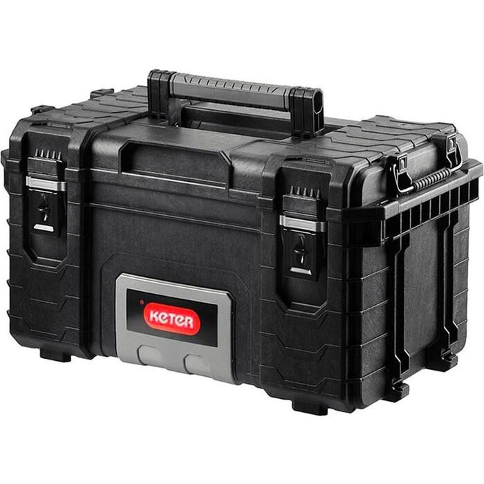 Фото - Ящик для инструментов Keter 22 Gear Tool Box-BLACK-STD EuroROC (236891) ящик keter 2 drawers tool chest 17199303 56 2x28 9x26 2 см 22 красный