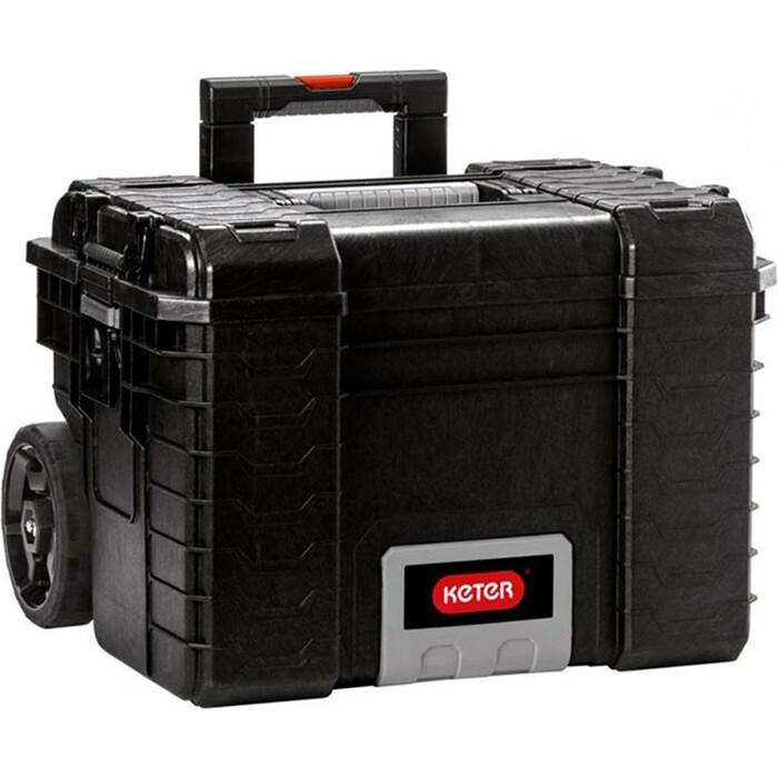 Ящик для инструментов Keter Mobile gear cart -BLACK-STD EuroROC (236889)