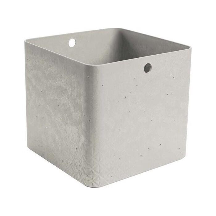 Декоративный ящик CURVER BETON XL CUBE BOX grey 28x28x26 см (243407)