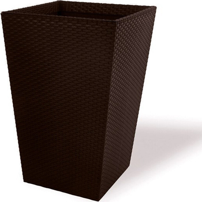 Кашпо CURVER Medium Rattan Planter-JRDBRW-CURVER brown 38,5x38,5x57 см 55,4 л(228975)