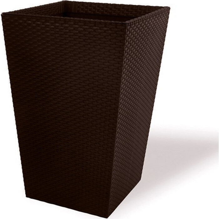 Кашпо CURVER Large Rattan Planter-BRW590-Standard brown 53x53x73 см, 144,8 л (228925)