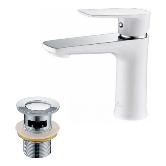 Смеситель для раковины Kaiser Atrio с донным клапаном, белый/хром (60011, 8035) смеситель для раковины kaiser atrio 60011