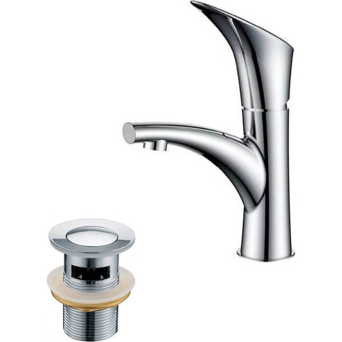 Смеситель для раковины Kaiser Calla с донным клапаном, хром (71011, 8035)