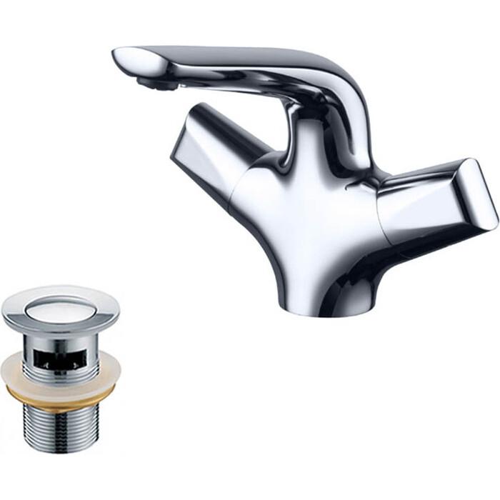 Смеситель для раковины Kaiser Suer с донным клапаном, хром (46111, 8035)
