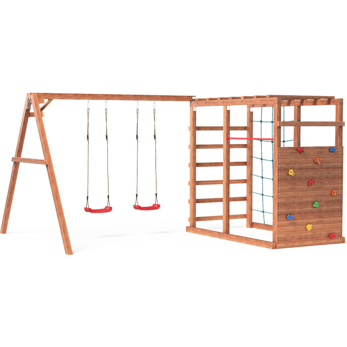 Детский игровой комплекс Можга Красная Звезда Р929 с качелями