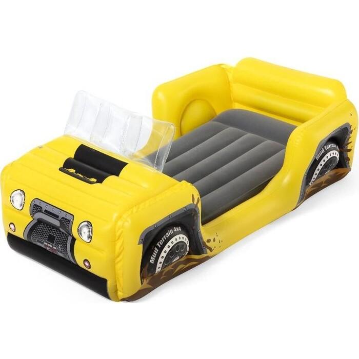 Детский надувной матрас Bestway Машинка 84х160х62см, 67714 BW