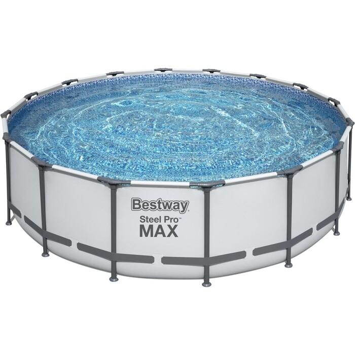 Каркасный бассейн Bestway 5612Z BW Steel Pro Max 488х122см, 19480л, фил.-насос 5678л/ч насос bestway 62101 bw
