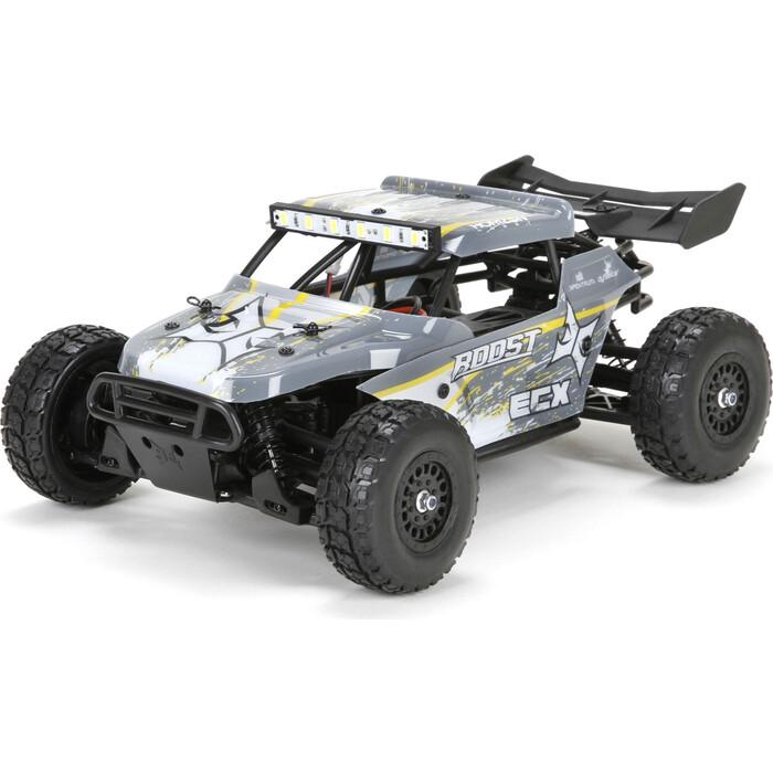 Радиоуправляемый багги ECX Desert Buggy Roost 4WD масштаб 1:18 RTR 2.4G (желто-серый) - ECX01005T2