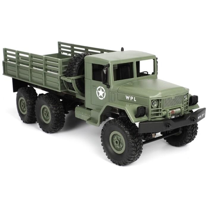 Радиоуправляемый грузовик WPL Army Truck 6WD RTR масштаб 1:16 2.4G - WPLB-16-Green