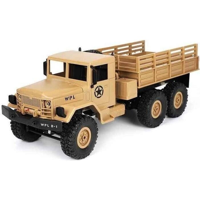 Радиоуправляемый грузовик WPL Army Truck 6WD RTR масштаб 1:16 2.4G - WPLB-16-Yellow