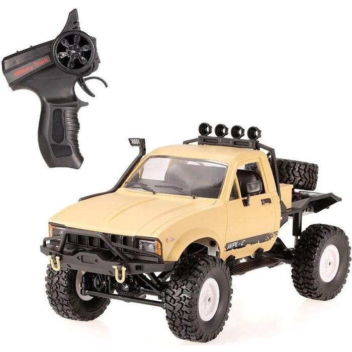 Радиоуправляемый краулер WPL 4WD RTR масштаб 1:16 2.4G - WPLC-14R-Yellow