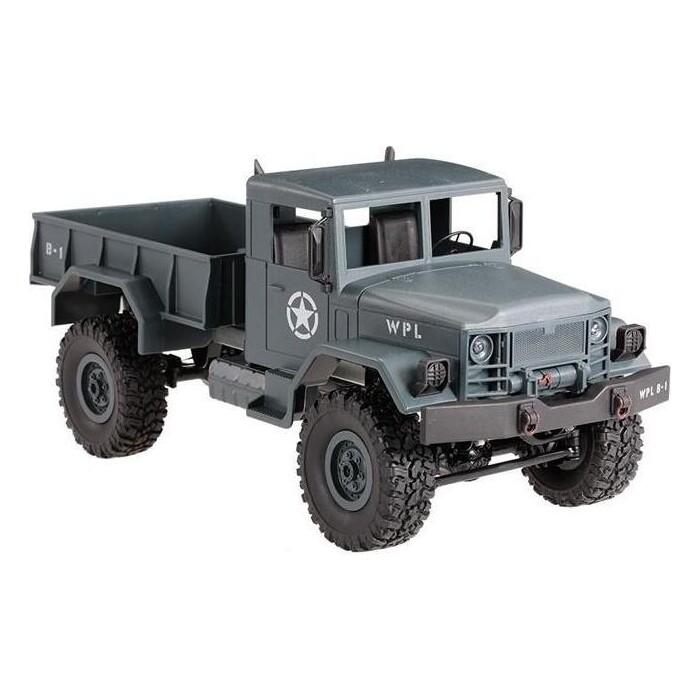Радиоуправляемый краулер WPL Military Truck 4WD RTR масштаб 1:16 2.4G - WPLB-14-Blue