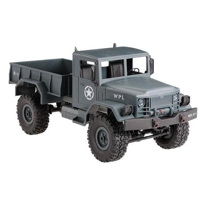 Радиоуправляемый краулер WPL Military Truck 4WD RTR масштаб 1:16 2.4G - WPLB-14R-Blue