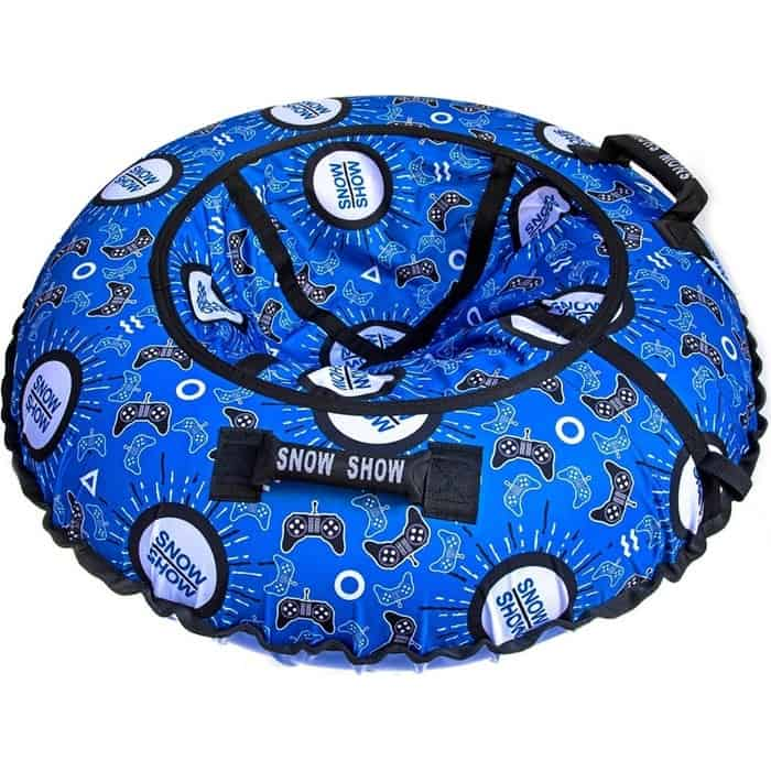 Тюбинг RT Джойстики на синем, автокамера, диаметр 118 см
