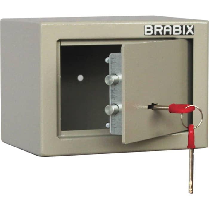 Сейф мебельный Brabix D-14m ключевой замок крепление к стене 291160