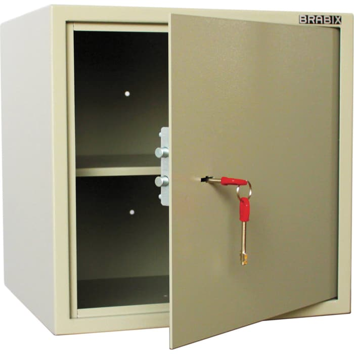 Сейф мебельный Brabix D-40m ключевой замок крепление к стене 291164