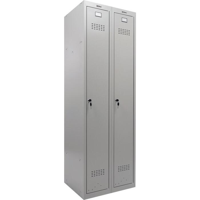 Шкаф металлический для одежды Brabix LK 21-60 2 секции 291126