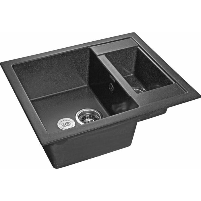 Кухонная мойка GranFest Quadro GF-Q610K графит